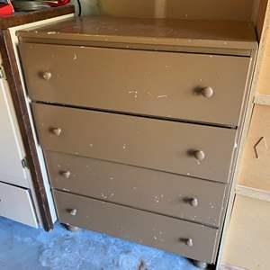 Lot # 249 - Vintage Brown 4-Drawer Dresser