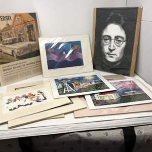 Lot # 262 - Nice Wall Art: John Lennon, 1959 Edsel, Space Needle & More..