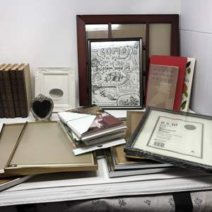 Lot #263 - Small Selection of Books, Cards & Picture Frames