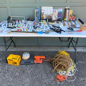 Lot #253 - Tools: Screw Drivers, Craftsman, Pliers, Rope & More..