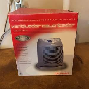 Lot #259 - 1500 Watt Maxi-Heat Heater Fan - Works
