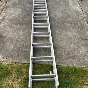 Lot #311 - Twenty Foot Aluminum Extension Ladder