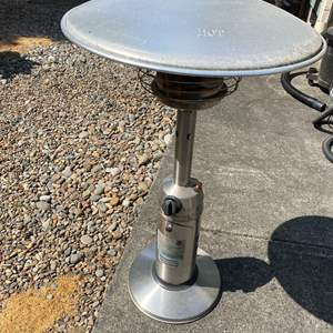 """Lot #317 - Table Top Propane Heater - Lightly Used - 38"""" Tall"""