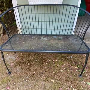 Lot #324 - Wrought Iron Garden Bench