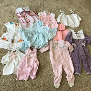 Lot # 64 - Vintage Baby Clothes