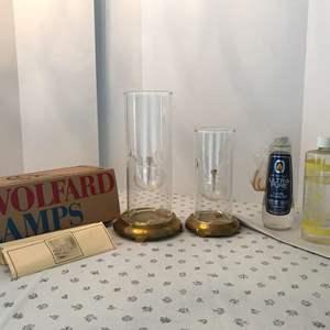 Lot # 75 - Two Wolfard Lamps & Oil