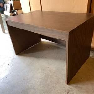 Lot # 190 - Short Pressed Wood Table/Desk
