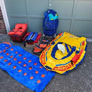 Lot # 237 - Two Inflatable Boats, Raft, REI Hiking Pack, Dry Bags & More..