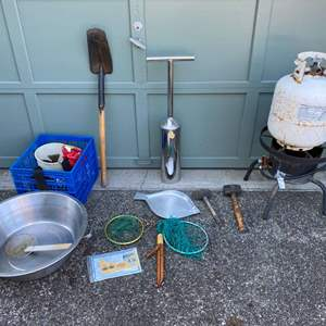 Lot # 238 - Clam & Oyster Digging Tools & Supplies