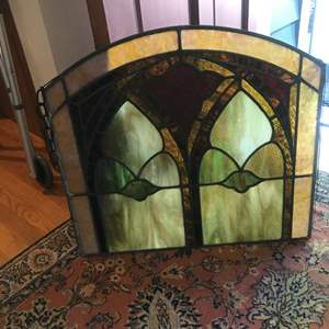 Lot #303 - Beautiful Stained Glass Window Hanging