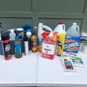 Lot #308 - Selection of Half Full Cleaning Supplies