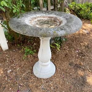 Lot #322 - Cement Bird Bath