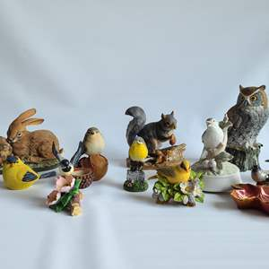 Lot # 10 Assorted Ceramic Birds & Critters