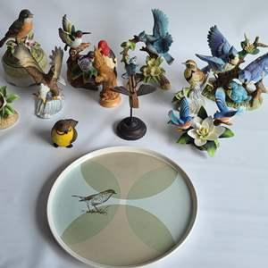 Lot # 13 Birds & A Plate!