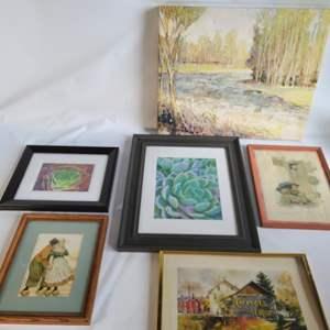 Lot # 41 Assorted Art