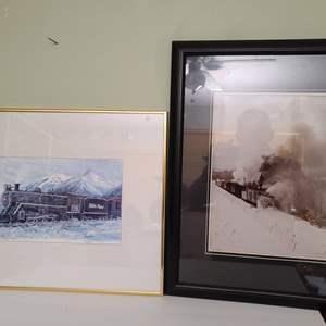 Lot # 93 Railroad Signed Art