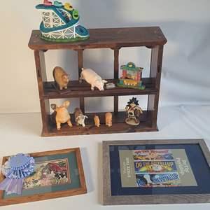 Lot # 86 Shelves & Ceramics
