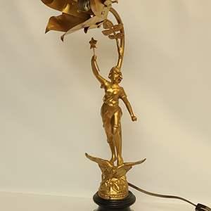 Lot # 113 MCM Art Deco Lamp