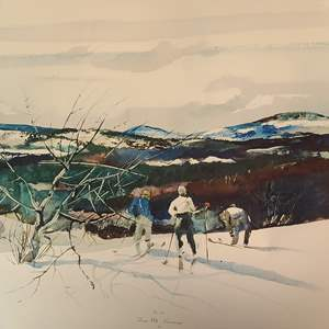 Lot # 125 Andrew Wyeth Collagraph #1172