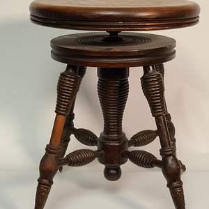 Lot # 129 Wooden Stool