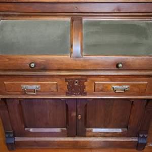 Lot # 131 Solid Wood Roll Top Desk