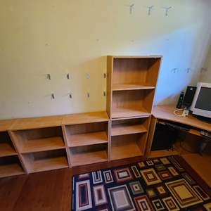 Lot # 132 Modular Desk & Bookshelves
