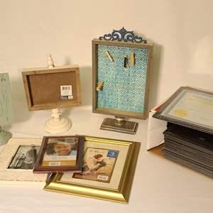 Lot # 143 Empty Frames & Note Boards