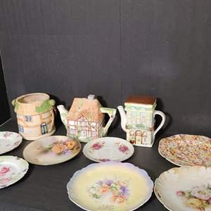 Lot # 146 Plates & Ceramic Pots