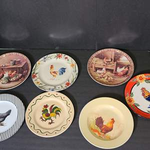 Lot # 148 Rooster Plates
