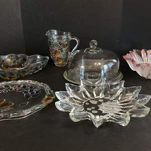 Lot # 67 - Awesome Lot of Large Platters, Bowls & Cake Plate