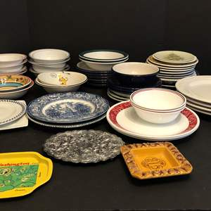 Lot # 74 - Large Lot of Misc. Bowls, Plates & More..