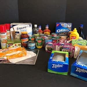 Lot # 78 - Ensure Nutrition Shakers, Canned Corn, Green Beans, Soup & More..