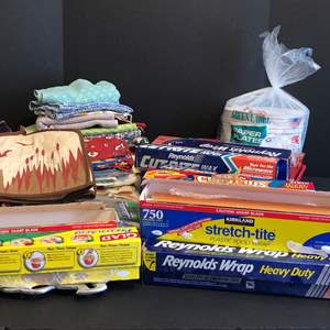 Lot # 82 - Reynolds Wrap, Cling Wrap, Hand Towels, Place Matts, Paper Plates, Napkins & More..