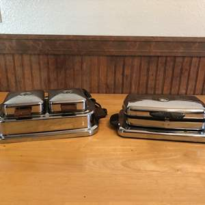 Lot # 93 - Two Vintage Waffle Irons