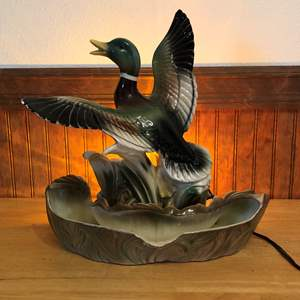"Lot # 167 - Awesome Vintage ""Lane & Co."" Ceramic Duck Lamp"