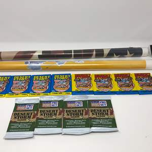 Lot # 172 - Cool Collection of NIB Desert Storm Trading Cards & Two Military Posters