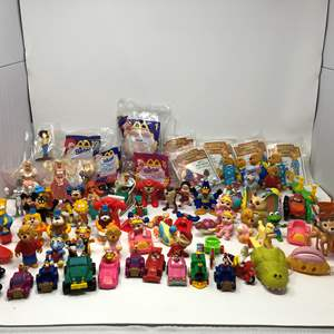 Lot # 173 - Awesome Collection of Vintage McDonald's Toys & Other Misc. Toys.