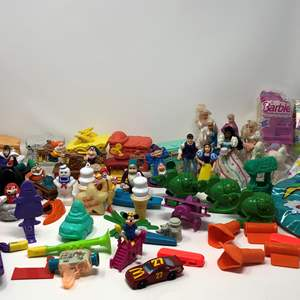 Lot # 174 - Awesome Collection of Vintage McDonald's Toys & Other Misc. Toys.