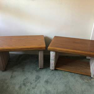 Lot # 186 - 2 VTG Wood Coffee Tables On Casters