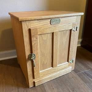 """Lot # 5 - """"White Clad"""" Oak Cabinet"""