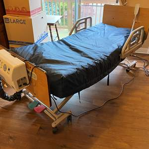 Lot # 7 - Very Nice Self Inflating Adjustable Medical Bed - Works - In Great Condition (See Video)