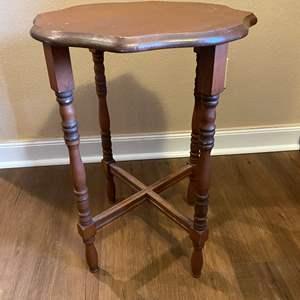 Lot # 8 - Wood Side Table