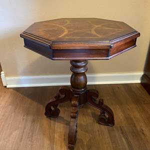 Lot # 17 - Octagon Shaped Wood Side Table