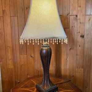 "Lot # 18 - Nice Wood Based Table Lamp - 30"" Tall"