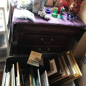 Lot # 138 - 2 Tubs of Picture Frames, Roma Photo Album, Candles, Holders & More..