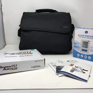 Lot # 140 - New Resmed CPap Machine, NIB Blood Pressure Monitor & Guardian 911 Alert Plus