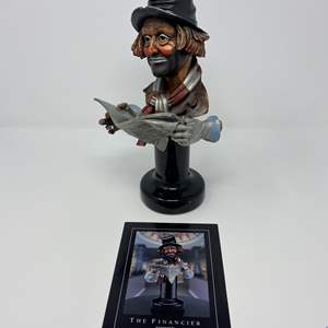 """Lot # 38 - Red Skelton """"The Financier"""" Legends Sculpture From Addi Galleries # 104/999 (Purchased for $995.00)"""