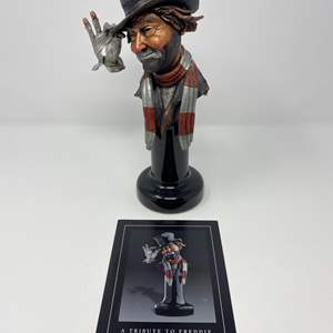 """Lot # 39 - Red Skelton """"A Tribute to Freddie"""" Legends Sculpture From Addi Galleries # 104/999 (Purchased for $995.00)"""