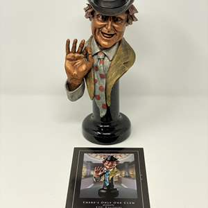 """Lot # 40 - Red Skelton """"There's Only One Clem"""" Legends Sculpture From Addi Galleries # 104/999 (Purchased for $995.00)"""