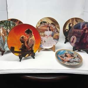 Lot # 146 - Gone with the Wind Collectors Plates w/ Two Metal Collector Plate Holders (Not in Main Photo)